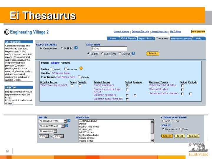 Ei Thesaurus