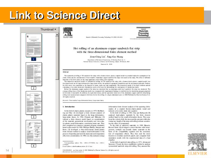 Link to Science Direct