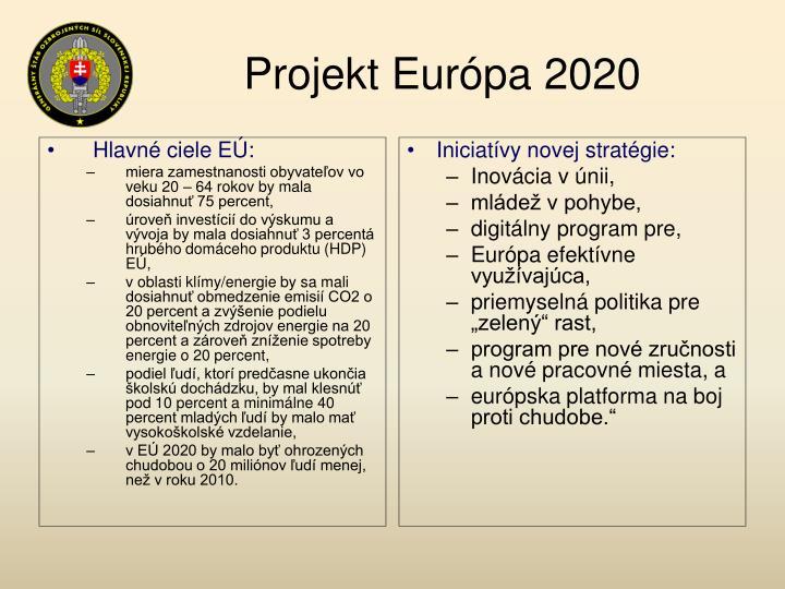 Hlavné ciele EÚ:
