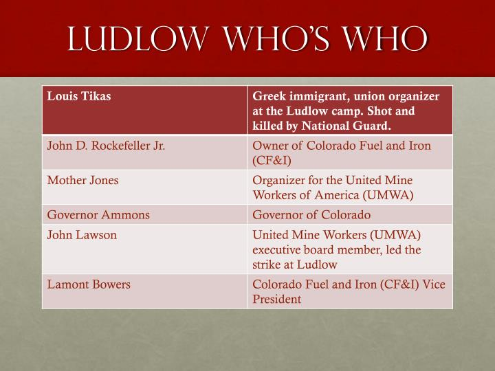 Ludlow who's who