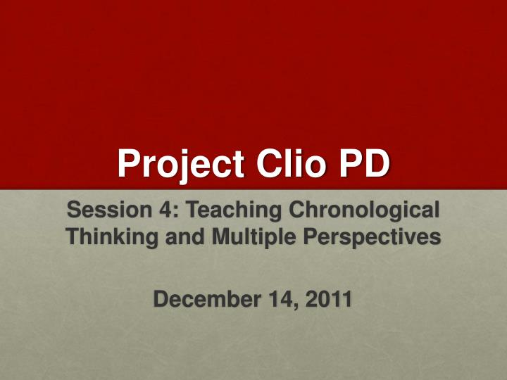 Project Clio PD