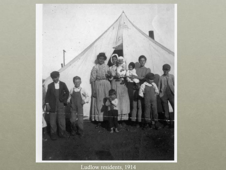 Ludlow residents, 1914