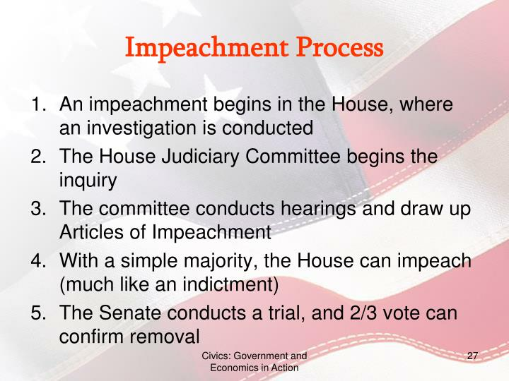 PPT - Chapter 9: The Executive Branch PowerPoint ... Impeachment Process