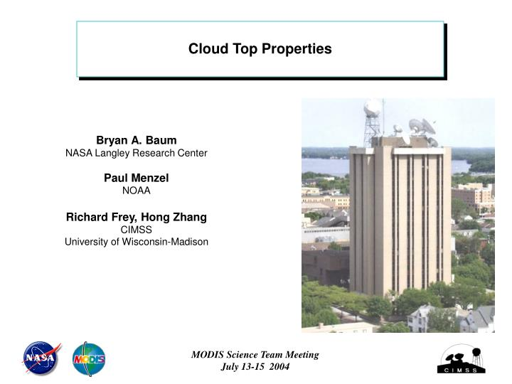 Cloud Top Properties