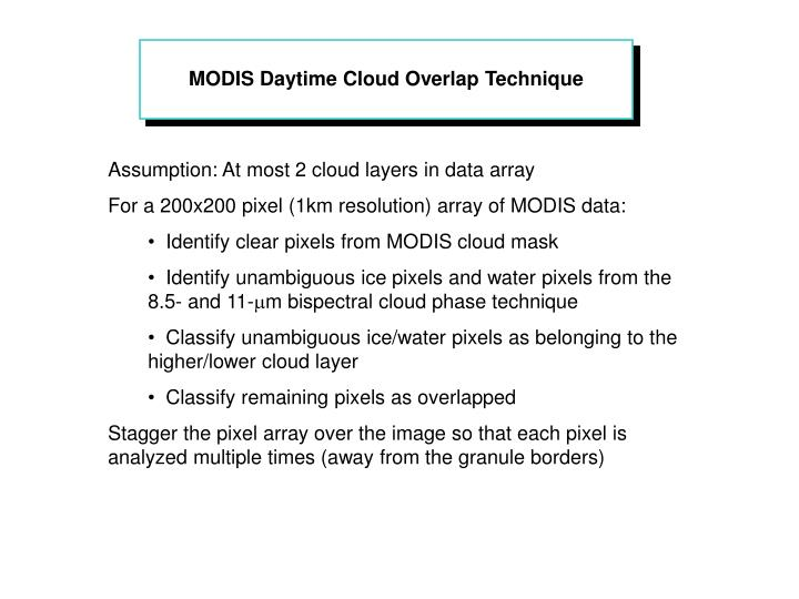 MODIS Daytime Cloud Overlap Technique