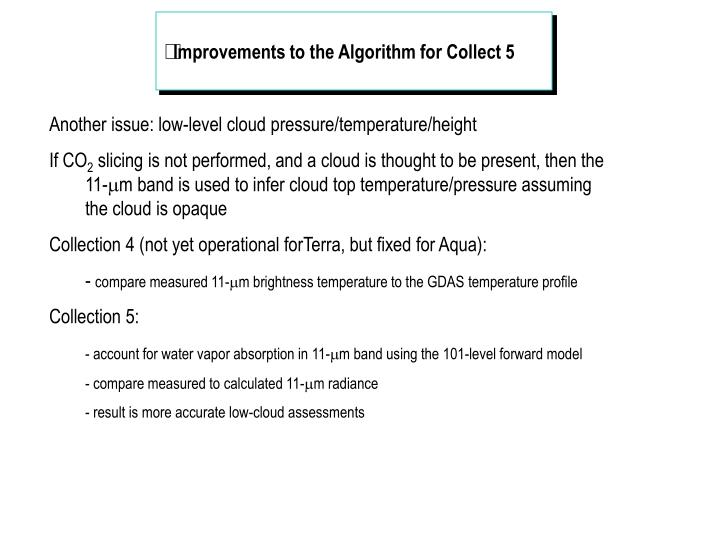 Improvements to the Algorithm for Collect 5
