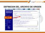 definicion del archivo de origen
