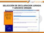 selecci n de declaracion jurada y archivo origen