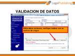 validacion de datos