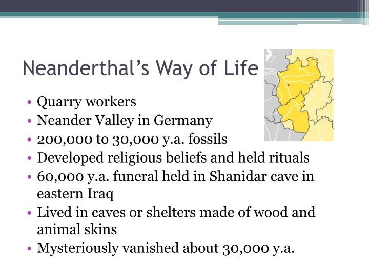 Neanderthal's Way of Life