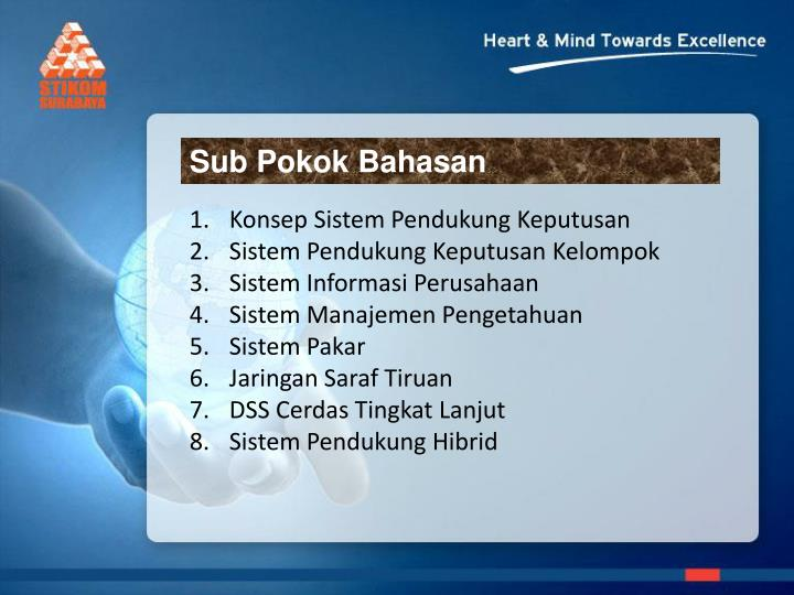 Sub Pokok Bahasan