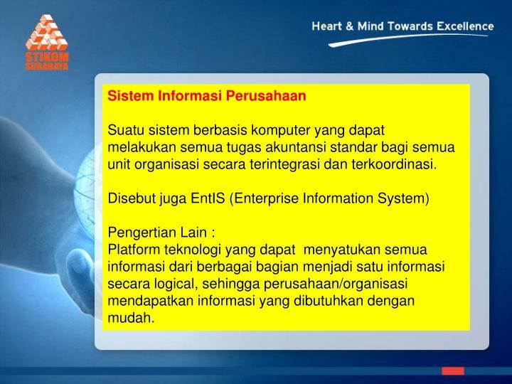 Sistem Informasi Perusahaan