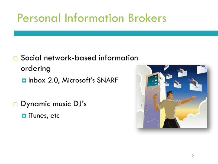 Personal information brokers