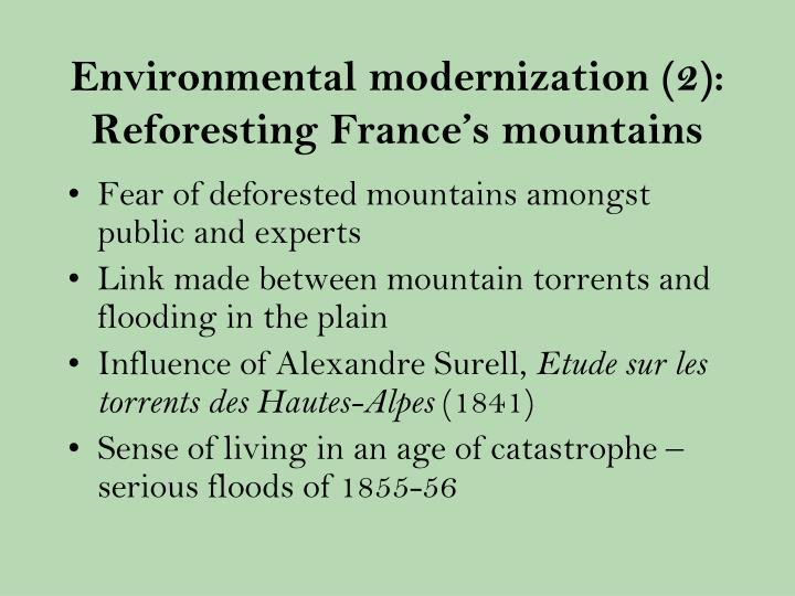 Environmental modernization (2): Reforesting France's mountains