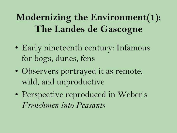 Modernizing the Environment(1): The Landes de Gascogne