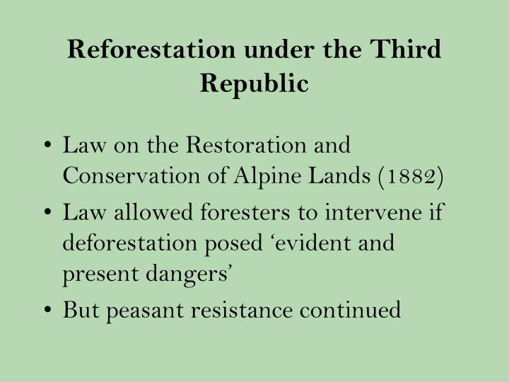 Reforestation under the Third Republic