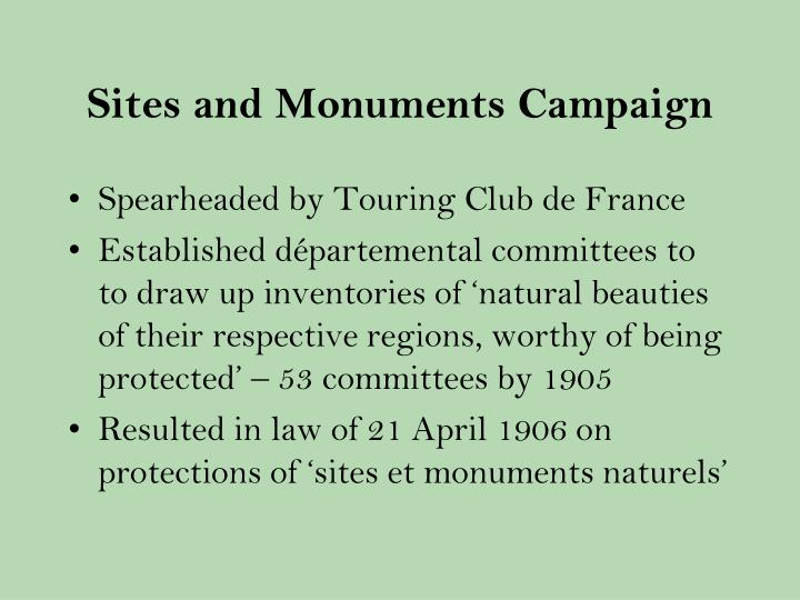 Sites and Monuments Campaign