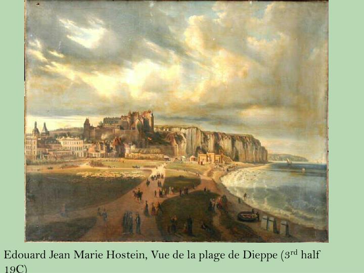 Edouard Jean Marie Hostein, Vue de la plage de Dieppe (3