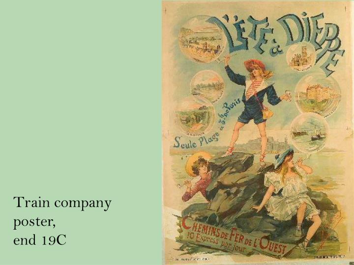 Train company poster,