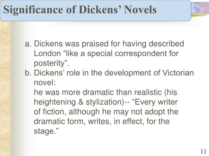 Significance of Dickens' Novels