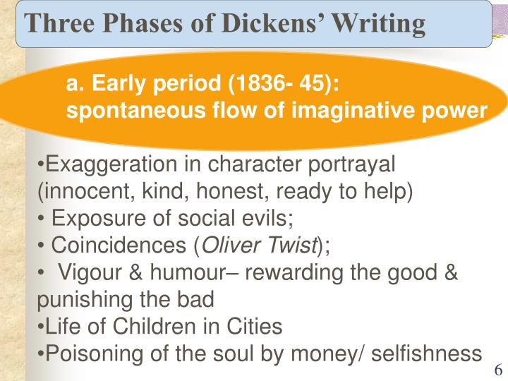 Three Phases of Dickens' Writing