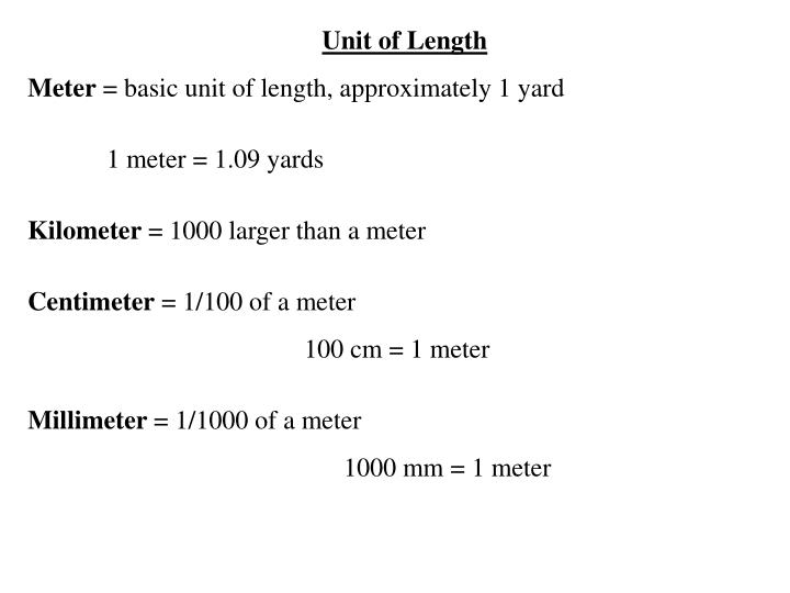 Unit of Length