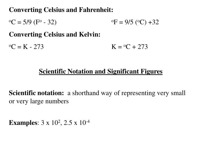 Converting Celsius and Fahrenheit: