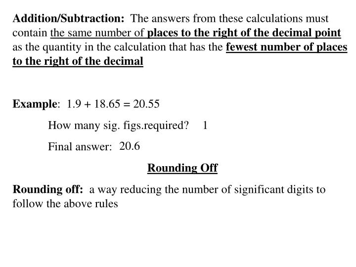 Addition/Subtraction: