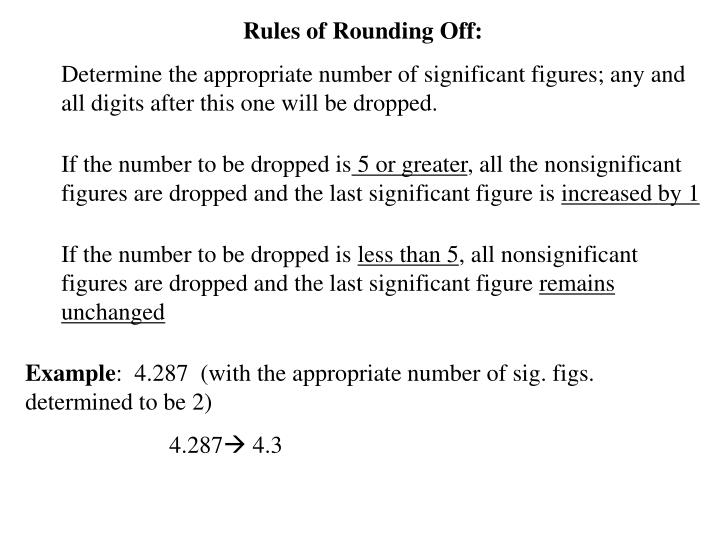 Rules of Rounding Off:
