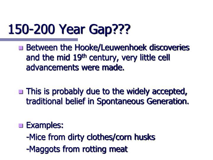 150-200 Year Gap???