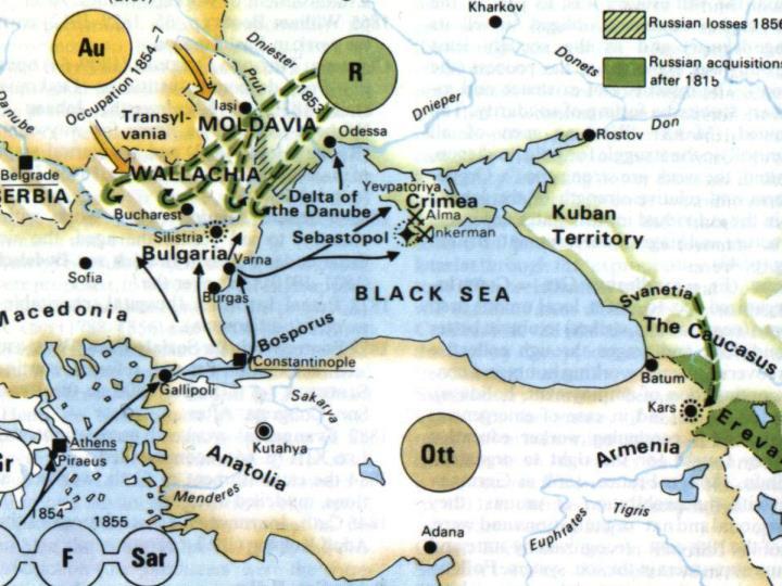 Map Crimean War
