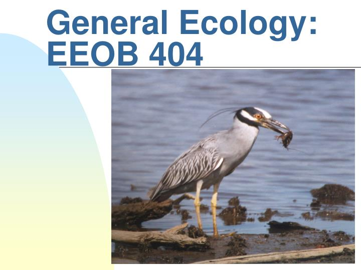 General ecology eeob 404