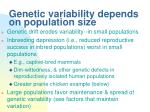 genetic variability depends on population size