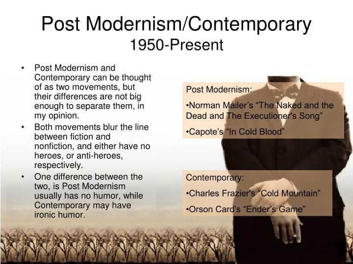 Post Modernism/Contemporary