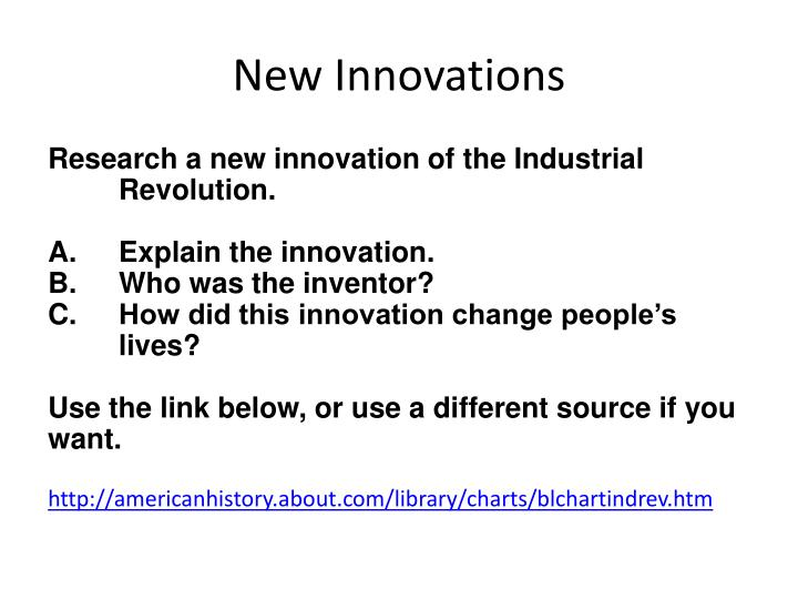 New Innovations