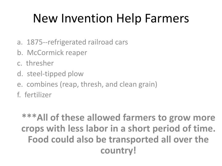 New Invention Help Farmers