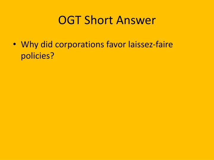 OGT Short Answer