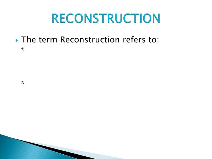 """1 to what extent did the era of reconstruction create a new south During the post-reconstruction era, southern leaders tried to promote the new idea of a """"new south"""" even though many southern leaders attempted to make the """"new south"""" idea look good and appear as a step closer to change, the south stayed in its old ways."""