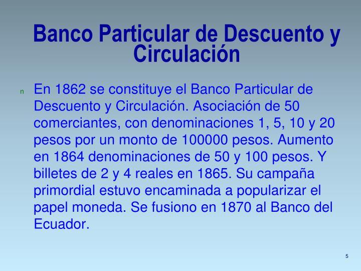 Banco Particular de Descuento y Circulación