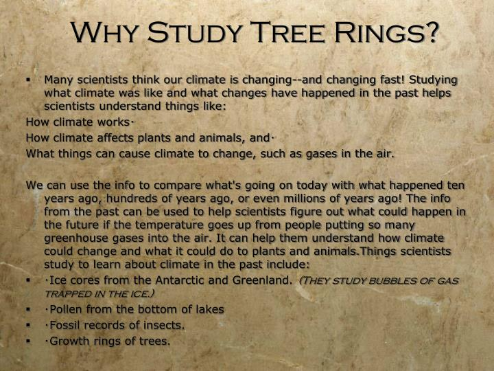 Why Study Tree Rings?