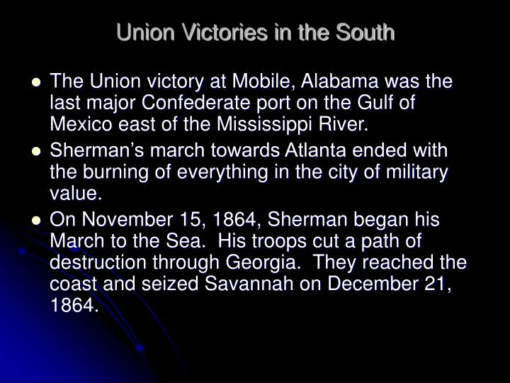 Union Victories in the South