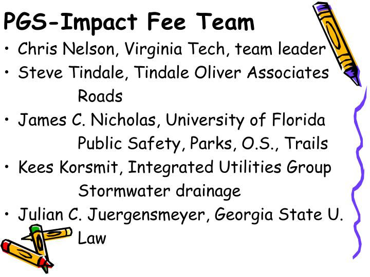 PGS-Impact Fee Team