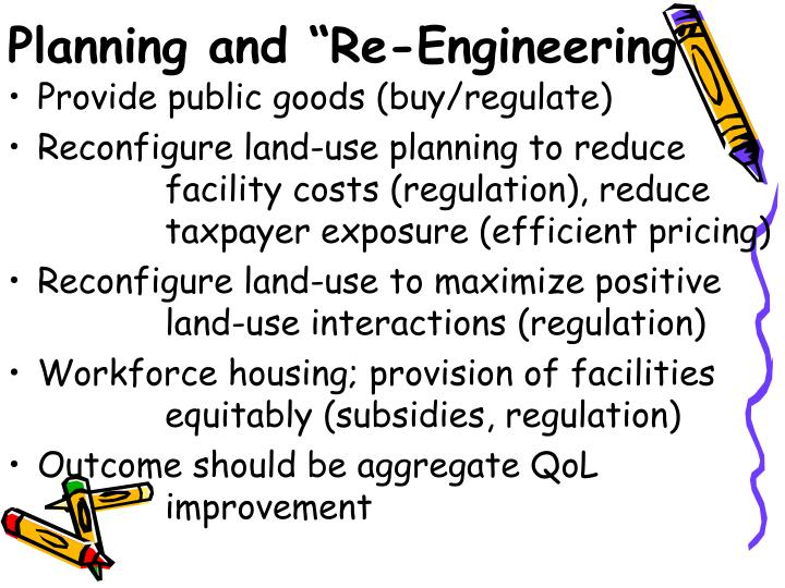 "Planning and ""Re-Engineering"""