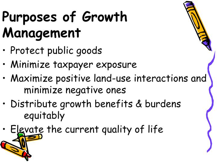 Purposes of Growth Management