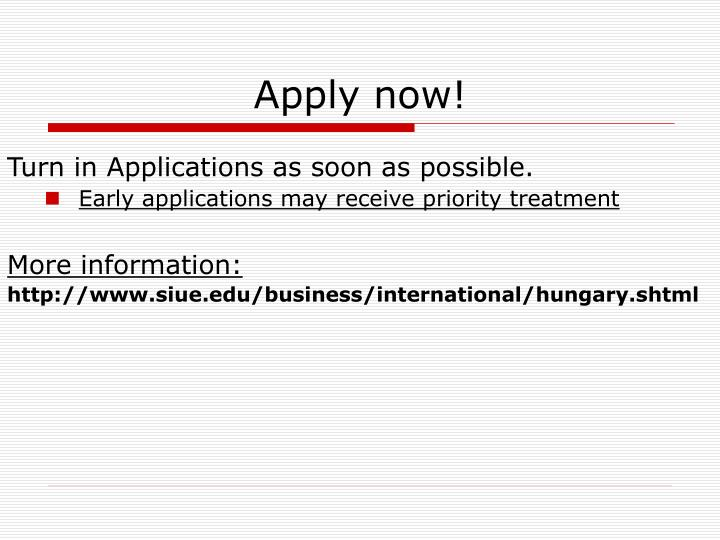 Apply now!