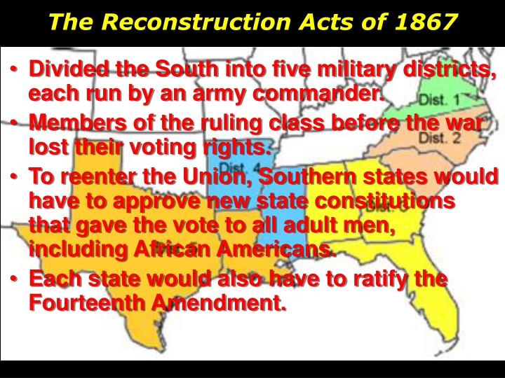 The Reconstruction Acts of 1867