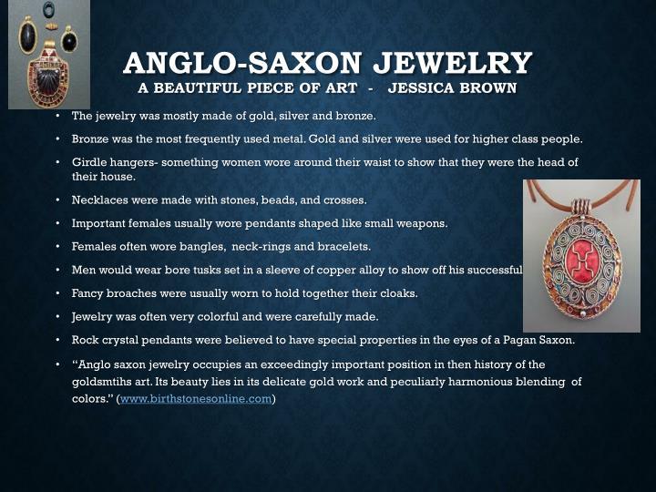 Anglo-Saxon Jewelry