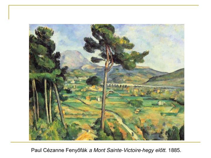 Paul Cézanne Fenyőfák