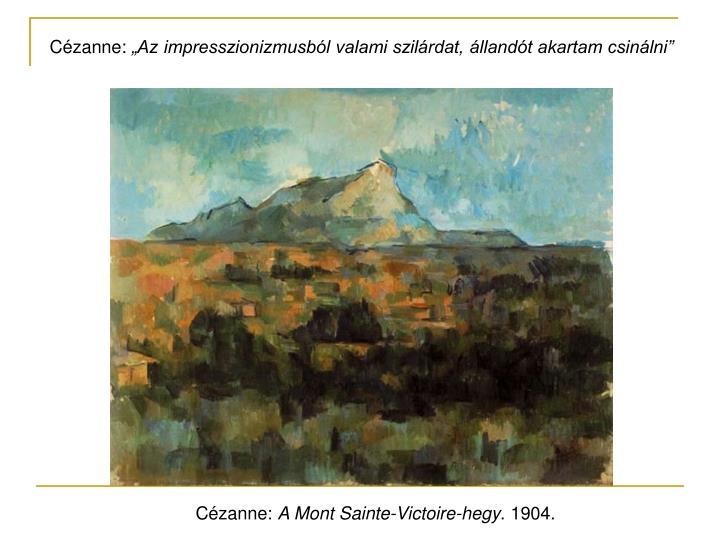 Cézanne: