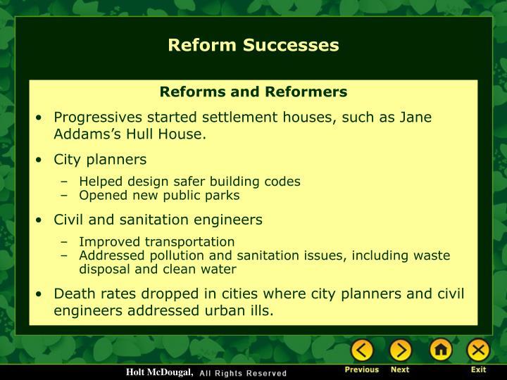 Reform Successes